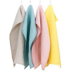 Mono kitchen towels in linen, Lapuan Kankurit