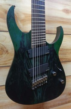 New Ibanez RGIM7BC Iron Label Multi Scale 7 String Deep Forest Burst Flat w/Gig #Ibanez