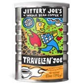 Jittery Joe's coffee! Love this stuff. If you're ever in Athens, Ga I recommend you go get yourself a cup.