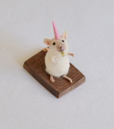 Taxidermy party mouse. by NimbleMatters on Etsy