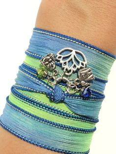 A personal favorite from my Etsy shop https://www.etsy.com/listing/152465887/namaste-silk-wrap-bracelet-yoga-jewelry