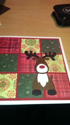 Kerstkaart gemaakt met mallen marianne design