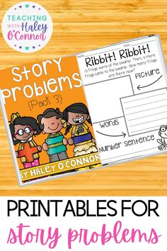 This pack is perfect to practice addition and subtraction word problems. This story problem uses numbers 1-20, but mostly focuses on working with numbers between 10-20. Each topic has 10 word problem pages with 2 versions, a full page where students show their thinking by drawing a picture and writing it in words and a version has journal prompts. Spring Lesson Plans | Elementary Printable Worksheets