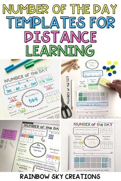If you are looking for a fun and engaging way for your students to get daily practice with place value, you will love my Number of the Day Templates! These digital templates are perfect for distance learning and can be used with 2 digit, 3 digit, 4 digit, or 5 digit numbers. They also provide an effortless way to differentiate for your students who are working with different-sized numbers or working to master different number sense skills. First Grade Classroom, Primary Classroom, First Grade Math, Grade 1, Number Sense Activities, Hands On Activities, Primary Resources, Teaching Resources, Professional Development For Teachers