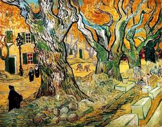 Road Works at Saint-Remy, 1889 by Vincent Van Gogh