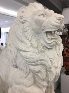 lions, pair, set of two pieces, Greek white marble sculptures, Greek antiquity - Hellas Art by SiloArtFactory Eternity Symbol, Greek Antiquity, Sculptures, Lion Sculpture, Recycled Art, Ancient Greece, White Marble, Lions, Metal Working