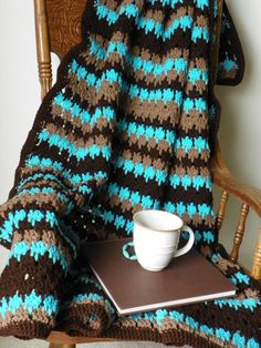 Western Blanket turquoise and brown by OldRedBarnProduction, $60.00