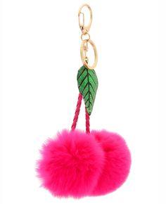 Fashion FoxFur Pompon Keychain Animal Mouse Key Chain Car Hanging Key JD