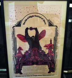 Mouse over image to zoom  Have one to sell? Sell it yourself  THE ISLE OF WIGHT FESTIVAL OF MUSIC ROCK POSTER AUGUST 31