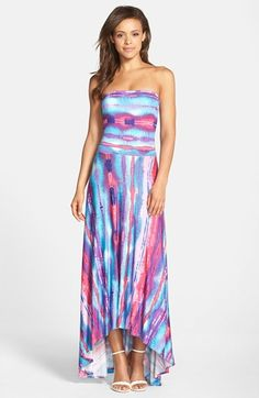 FELICITY & COCO Strapless Neon Print Maxi Dress (Regular & Petite) (Nordstrom Exclusive)