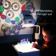 reggio activities using OHP - light mandalas {An Everyday Story}