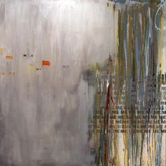 """Sara Abbott   Isn't It All About Me - Silver   Acrylic on canvas 48"""" x 48"""" 2010 #text #acrylic"""