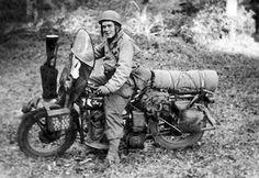 WW2. Motorcycle troopers.