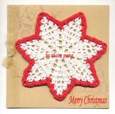 free Christmas doily pattern - (idea can be used as placemat)