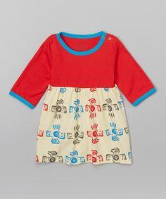 Love this Red Phoenix Organic Babydoll Dress - Infant, Toddler & Girls on #zulily! #zulilyfinds
