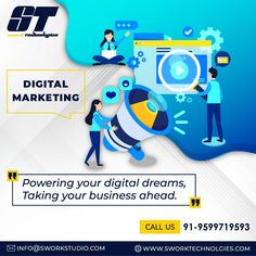 Swork Technologies power your digital dream and take your digital business ahead. Top Digital Marketing Companies, Seo Marketing, Digital Marketing Strategy, Marketing And Advertising, Social Media Marketing, Power Of Social Media, Business, Store, Business Illustration