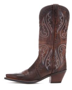 Ariat Women's Heritage Western X Toe Boot - Sassy Brown