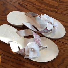 SALEDIOR Rare Pink Rhinestone 37 DIOR Christian Dior - new shoes. Never worn. No box. Size 37-7 us  Discontinued color & pattern. Has a tiny hole on the top of the shoe maybe something fell off? Don't know? Pictured in the 4 th pic. Dior Shoes