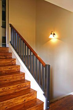 Split Level Entry Design, tile floor | Entryway ...