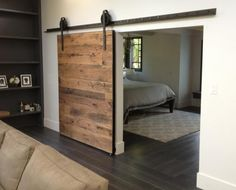 Awesome Sliding Barn Door Hardware John Robinson House Decor throughout dimensions 1024 X 768 House Large Wooden Barn Doors - Please note order if you Interior Sliding Barn Doors, Sliding Closet Doors, Sliding Barn Door Hardware, Door Hinges, Sliding Wall, Sliding Wardrobe, Wardrobe Doors, The Doors, Wood Doors