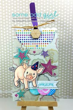 Party Pig is ready to start 2015 with a BANG! #SomeOddGirl #cardmaking #thezadisproject