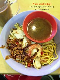 Cuisine Paradise | Singapore Food Blog | Recipes, Reviews And Travel: Pocket Friendly Lunches in Singapore CBD Area - Corner Delights' Prawn Noodles located at The Arcade