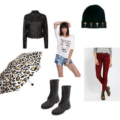 Punk: Rainy Day Rainy days can be dreary and depressing. So make your outfit fun and stylish with this edgy, punk look. Blog: http://unseensideofthescene.blogspot.com/2013/08/punk-rainy-day.html?m=1 #punk #rain #rainydays #cute #outfit #edgy #altgirlsofcolour #usots #unseensideofthescene #alternative #style #blog