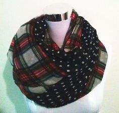 Check current price New Fashion Multicolor Dotted and Plaid Check Infinity Scarf Snood Scarves For Women /Ladies Free Shipping just only $5.11 with free shipping worldwide  #womanaccessories Plese click on picture to see our special price for you