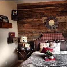 Beguiling Wood Accent Wall home interior design Traditional Bedroom Boise Beautiful Bedroom Designs, New Bedroom Design, Beautiful Bedrooms, Wooden Wall Panels, Wooden Walls, Brick Walls, Wood Bedroom, Bedroom Decor, Bedroom Ideas