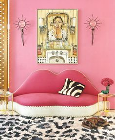 But Darling, I think it's adorable! It is Pink......OK, so don't sit on the lip shaped settee.................