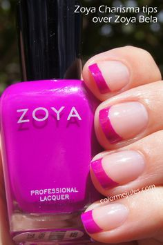 Zoya Charisma tips over Zoya Bela - www.colormejules.com