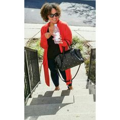 Feeling #relaxed and energized with my water, my favorite purse and #comfy #cardigan #onthego #mystyle when I'm not #work