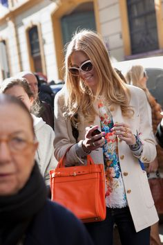 Street Style shots at Fendi by Emanuele Zamponi www.emanuelezamponi.com  www.ilsole24ore.com/moda24