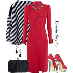 Wrap Dress, created by natasha-gayden on Polyvore