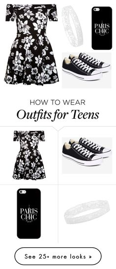"""""""OOTD"""" by gretchenlover on Polyvore featuring New Look, Converse and Casetify"""