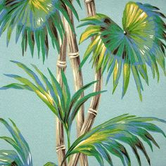 Tradewinds - Lagoon (turquoise) - Vintage Inspired Retro Fabric