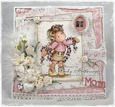 Tilda card by LLC DT Member Becky Hetherington, using papers from Maja Design's Sofiero collection.