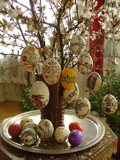 Easter Tree...have to make a special trip to Salzburg to get a bunch of these eggs!