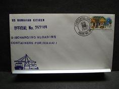 Ship SS HAWAIIAN CITIZEN Naval Cover 1978 HAWAII previous USS GOODHUE APA-107