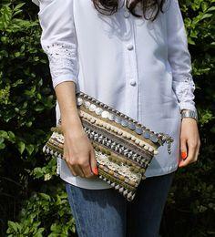 Ethnic Embellished Clutch Bag