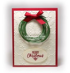 Christmas Wreath Card | Swirly Scribbles thinlits