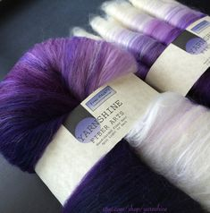 Violet Vixen FRAC-PACK™: Fractal Spinning Fiber. Batt by YARNSHINE 4 oz of fiber. Pre set to fractal ply.
