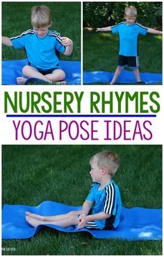 These are the best for a preschool gross motor activity, nursery rhyme unit, or to use in therapies or at home! What a fun way to encourage movement with your nursery rhymes unit. The best part is they are fun to use year round! Nursery Rhyme Crafts, Nursery Rhymes Preschool, Nursery Rhyme Theme, Nursery Activities, Nursery Rhymes For Toddlers, Rhyming Preschool, Preschool Yoga, Rhyming Activities, Preschool Activities