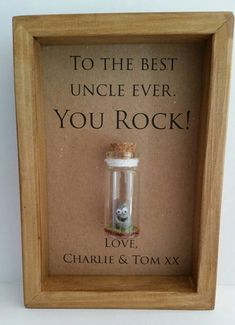 Uncle gift, birthday, new uncle, gift.  You rock.  Option to have it personalised with your names/own message.