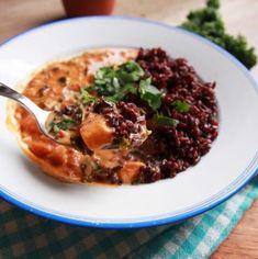 Vláčna tofu omeleta plná zeleniny - rebarbora.blog Veggie Recipes, Veggie Food, Kale, Sweet Potato, Risotto, Mashed Potatoes, Peanut Butter, Tofu, Veggies