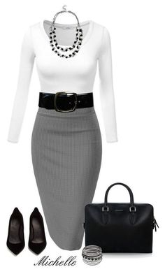 This would make a nice work outfit. - Black Belt - Ideas of Black Belt - This would make a nice work outfit. Business Casual Outfits, Office Outfits, Business Fashion, Classy Outfits, Chic Outfits, Fashion Outfits, Womens Fashion, Skirt Outfits, Sexy Business Attire