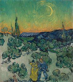 A Walk at Twilight - Vincent van Gogh — Google Arts & Culture