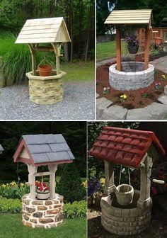 57 Ideas Rustic Garden Art Ideas Backyards For 2019 Garden Crafts, Diy Garden Decor, Garden Projects, Garden Art, Garden Design, Diy Garden Fountains, Diy Fountain, Parc Floral, Tire Garden