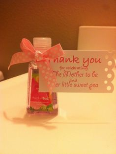 on pinterest hand sanitizer favors and baby shower favors