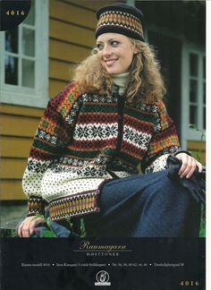 Raumagarn Høsttoner 4016 Norwegian Knitting, Fair Isle Knitting Patterns, Chart Design, Old Magazines, Hand Knitted Sweaters, Christmas Colors, Hand Knitting, Knits, Stitch